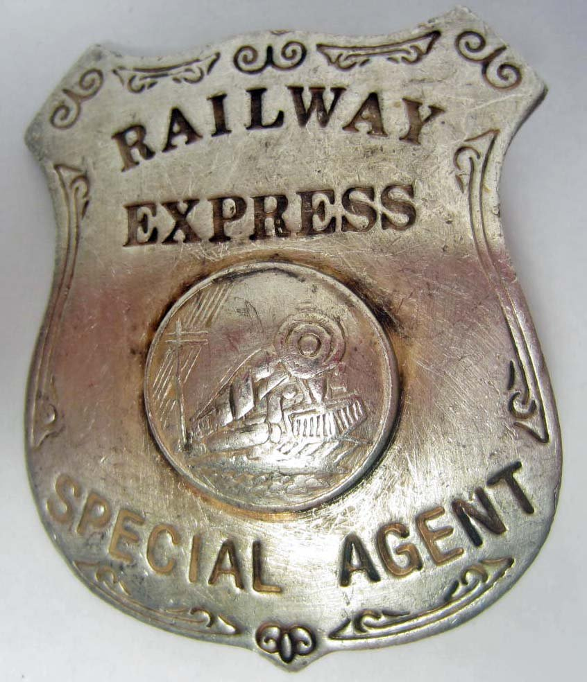 14: OLD WEST RAILWAY EXPRESS SPECIAL AGENT LAW BADGE