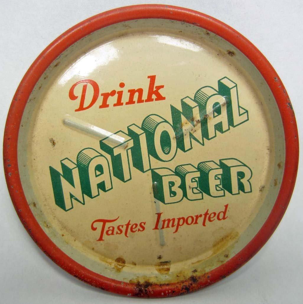 21: VINTAGE NATIONAL BEER TIP TRAY