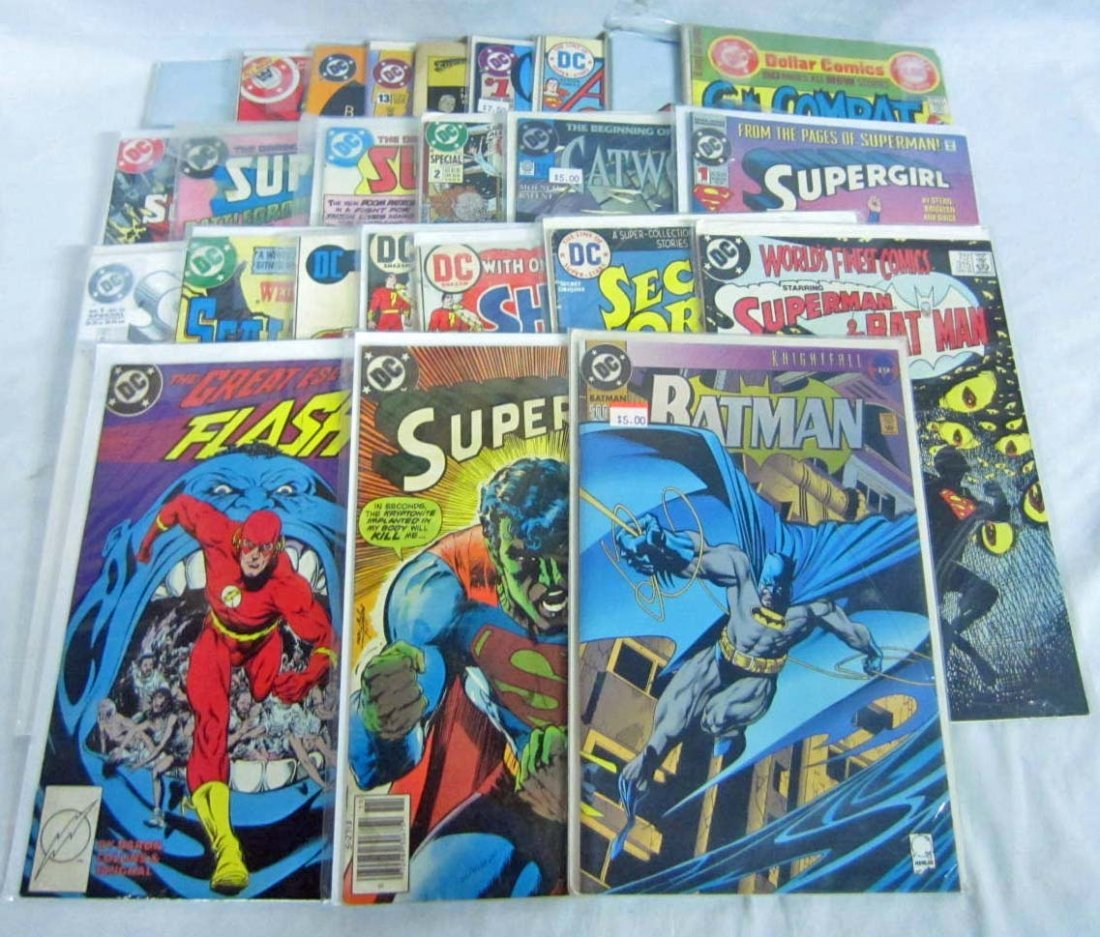 23: LOT OF APPROX. 25 VINTAGE COMIC BOOKS