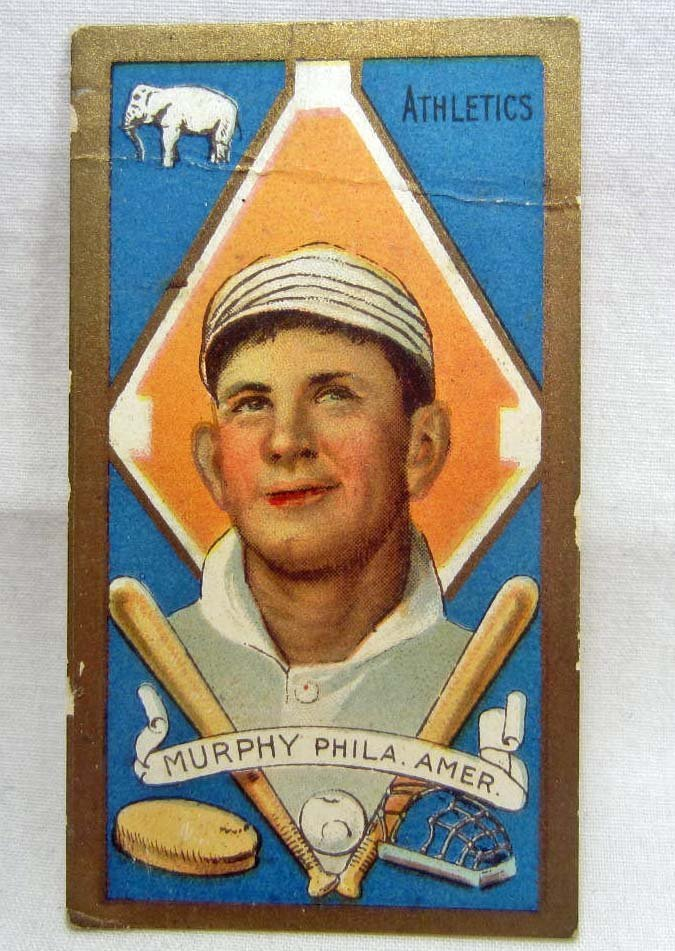 36: 1911 - T205 DANIEL MURPHY BASEBALL CARD - PHILADELP