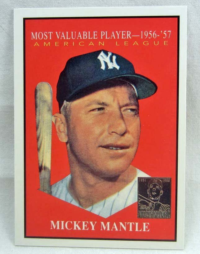 241 1997 Topps Insert 475 Mickey Mantle Baseball Card