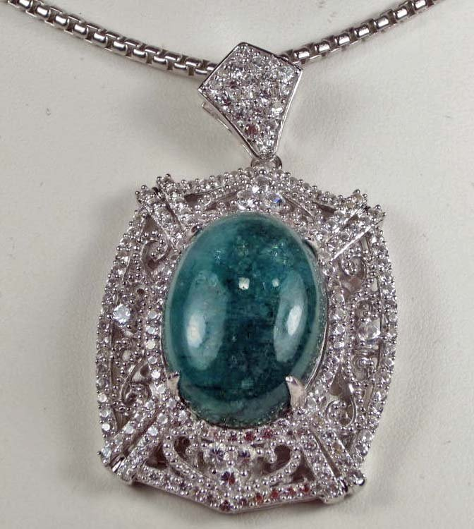 8: PLATINUM OVER STERLING SILVER EMERALD AND SAPPHIRE P