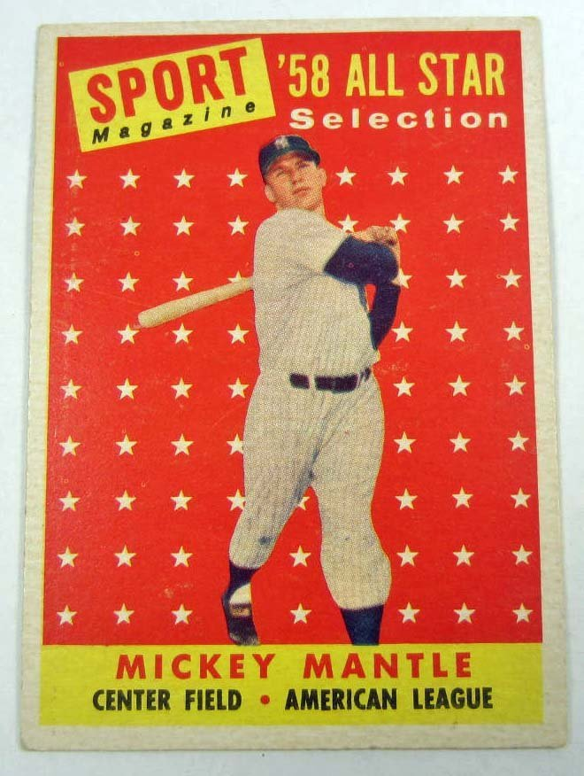 18: 1958 TOPPS MICKEY MANTLE #487 BASEBALL CARD