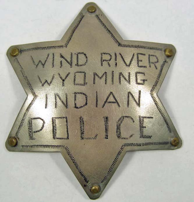 WYOMING INDIAN POLICE LAW BADGE