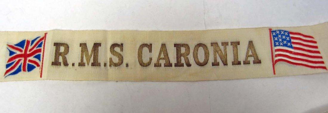 1915 PANAMA CALIFORNIA EXPO HAT BAND - RMS CARONIA