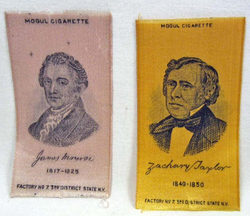 LOT OF 2 EARLY PRESIDENTIAL TOBACCO SILKS - Z TAYLOR &