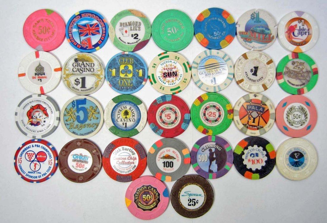 LOT OF 30 VINTAGE OBSOLETE NATION WIDE CASINO GAMBLING
