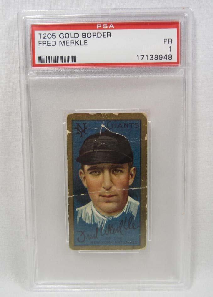 1911 T205 FRED MERKLE BASEBALL CARD - PSA PR 1