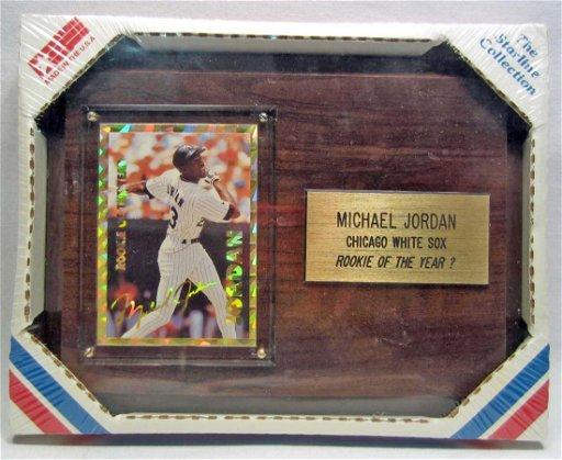 Michael Jordan Chicago White Sox Baseball Card Plaque Mar 17