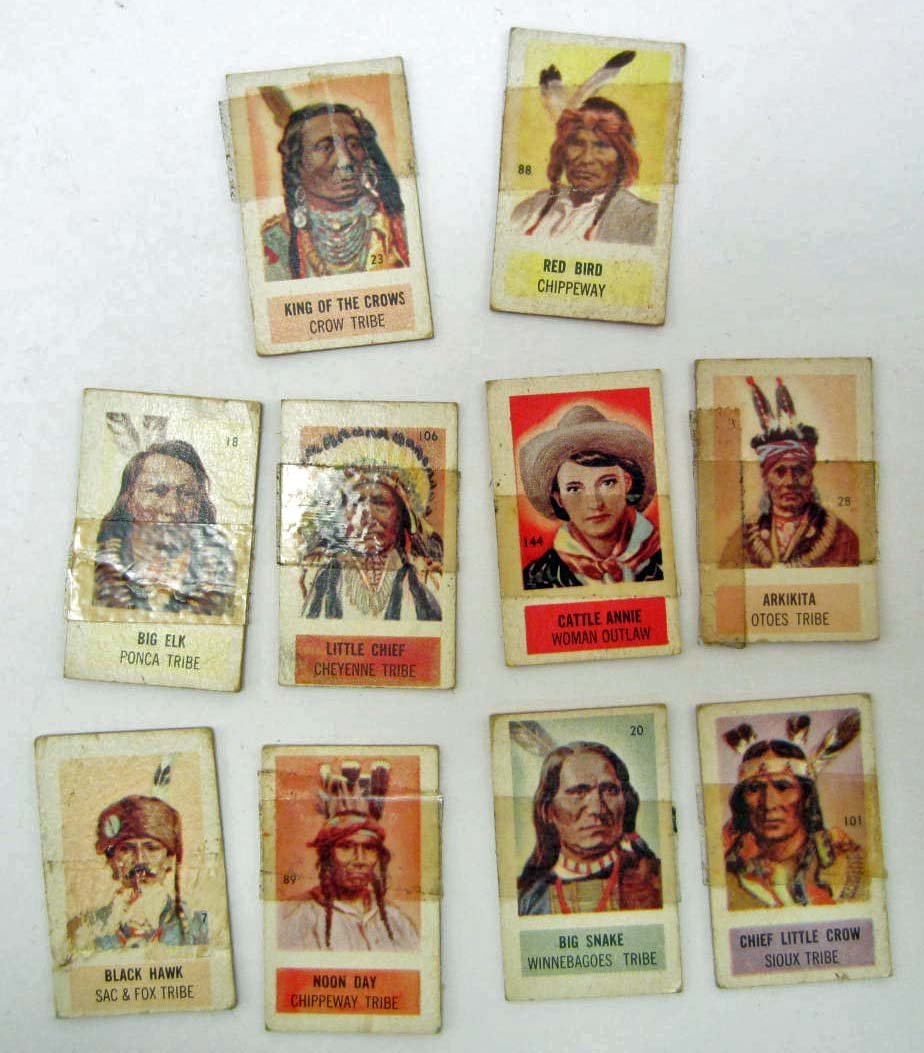 LOT OF 10 1949 TOPPS XRAY CARDS - MOST INDIANS