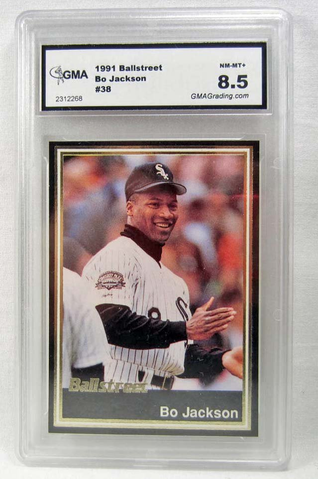 1991 BALLSTREET BO JACKSON #38 BASEBALL CARD - GMA NM-M