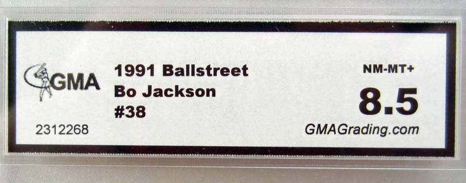 1991 BALLSTREET BO JACKSON #38 BASEBALL CARD - GMA NM-M - 2