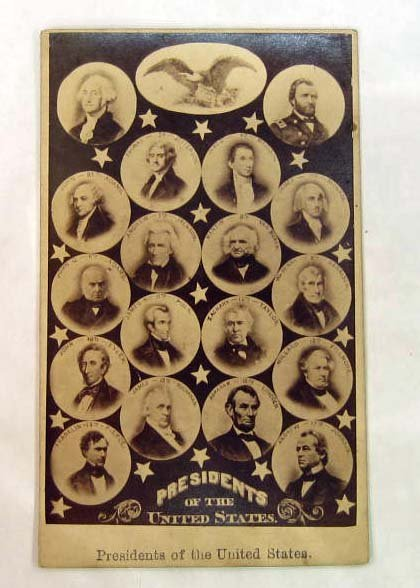 ANTIQUE CDV PHOTO OF PRESIDENT OF THE UNITED STATES - 1