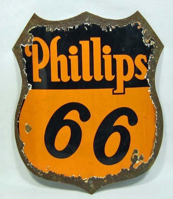 PHILLIPS 66 GASOLINE PORCELAIN ADVERTISING SIGN