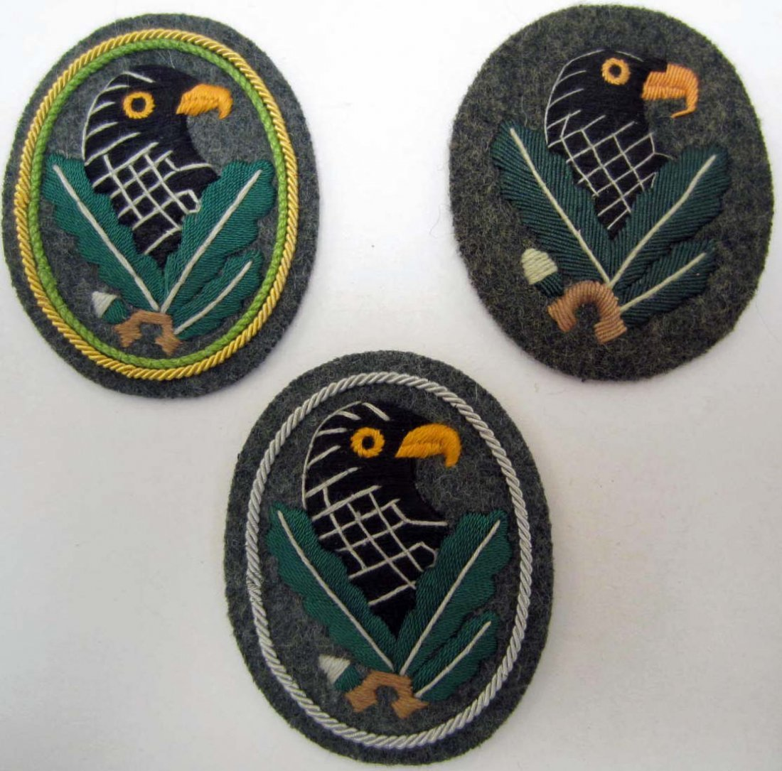 LOT OF 3 GERMAN NAZI ARMY SNIPER SLEEVE BADGES