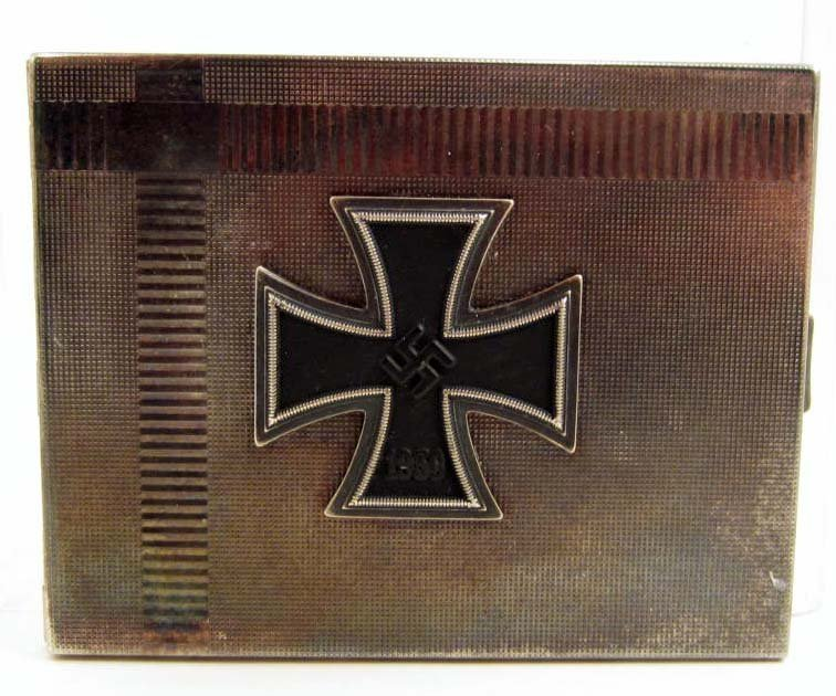 GERMAN NAZI OFFICERS IRON CROSS CIGARETTE CASE
