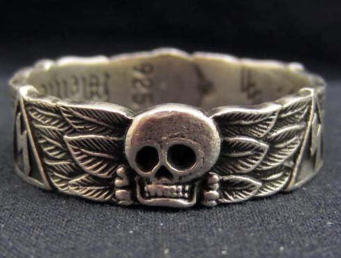 GERMAN NAZI WAFFEN SS TOTENKOPF SKULL HONOR RING