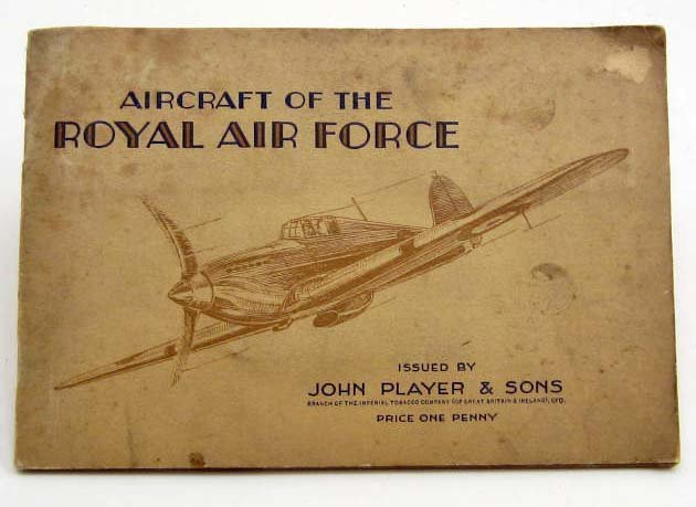 EARLY AIRCRAFT OF THE ROYAL AIR FORCE CIGARETTE CARD