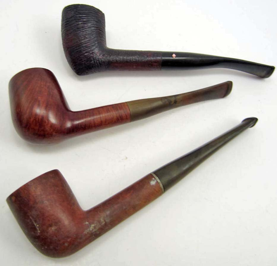 LOT OF 3 VINTAGE ESTATE PIPES - INCL. ITALY, GRABON