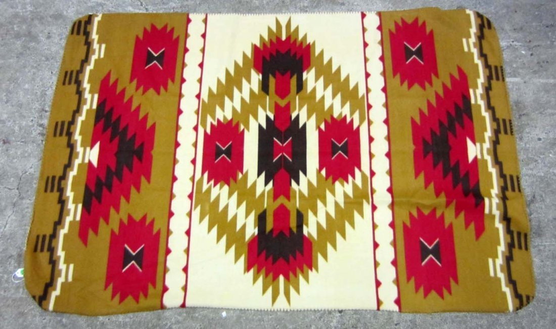 NATIVE AMERICAN INDIAN BLANKET W/ ST. LABRE INDIAN