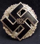 GERMAN NAZI GAU HONOR BADGE W/ WIDE VERTICAL PINBACK