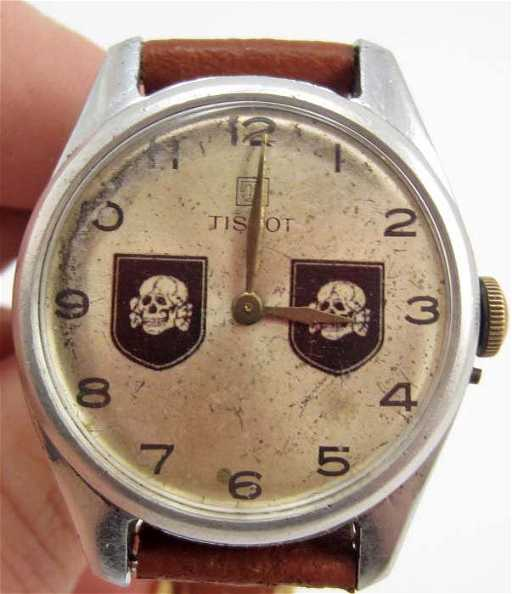 German Nazi Ss Totenkopf Wrist Watch