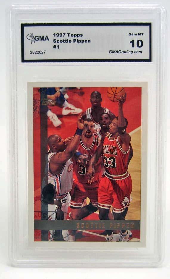 5914 - 1997 TOPPS SCOTTIE PIPPEN #1 BASKETBALL CARD -