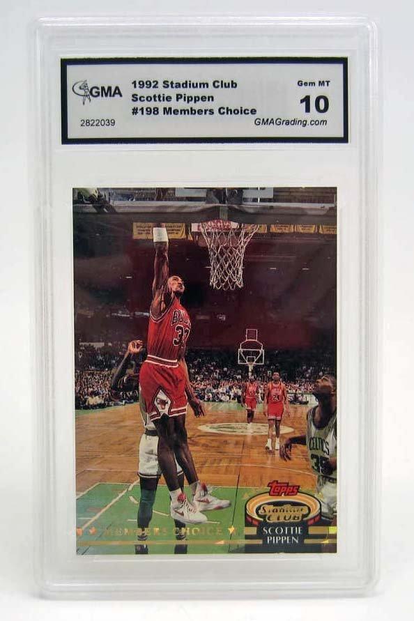 5917 - 1992 STADIUM CLUB SCOTTIE PIPPEN #198 BASKETBALL