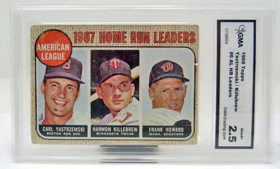 5014 - 1968 TOPPS YAZ/KILLEBREW/HOWARD #6 BASEBALL CARD