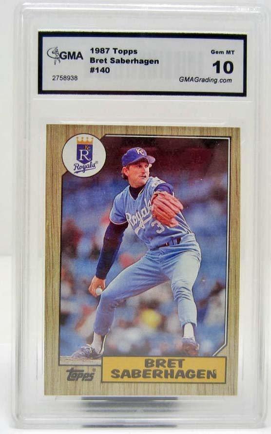 4992 - 1987 TOPPS BRET SABERHAGEN #140 BASEBALL CARD -
