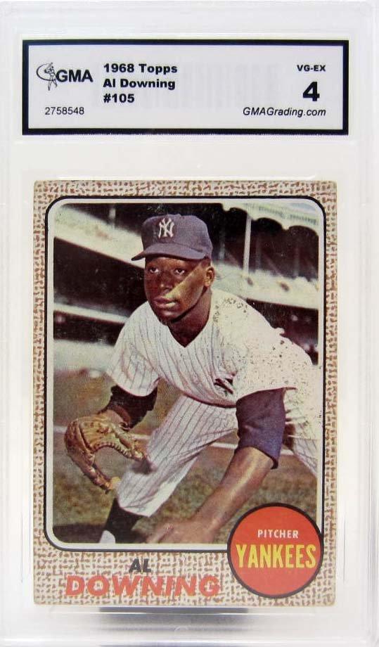 4923 - 1968 TOPPS AL DOWNING #105 BASEBALL CARD - GMA