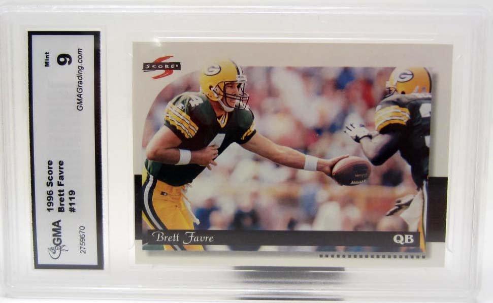 4849 - 1996 SCORE BRETT FAVRE #119 FOOTBALL CARD - GMA