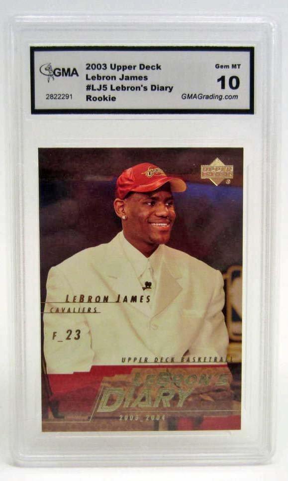 6001 - 2003 UPPER DECK LEBRON JAMES #LJ5 ROOKIE