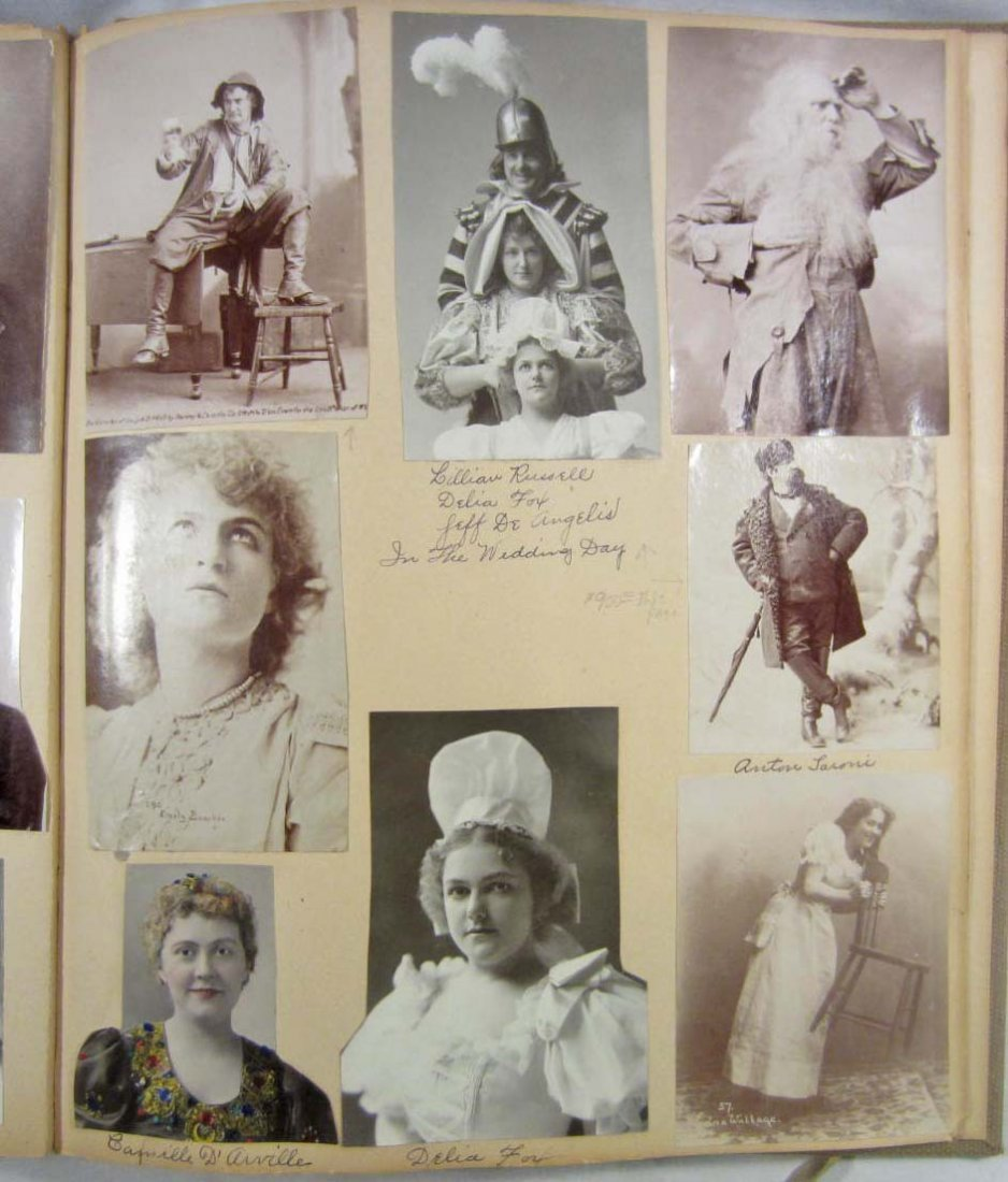 RARE 1 OF A KIND HISTORIC THEATRE & STAGE PHOTO ALBUM