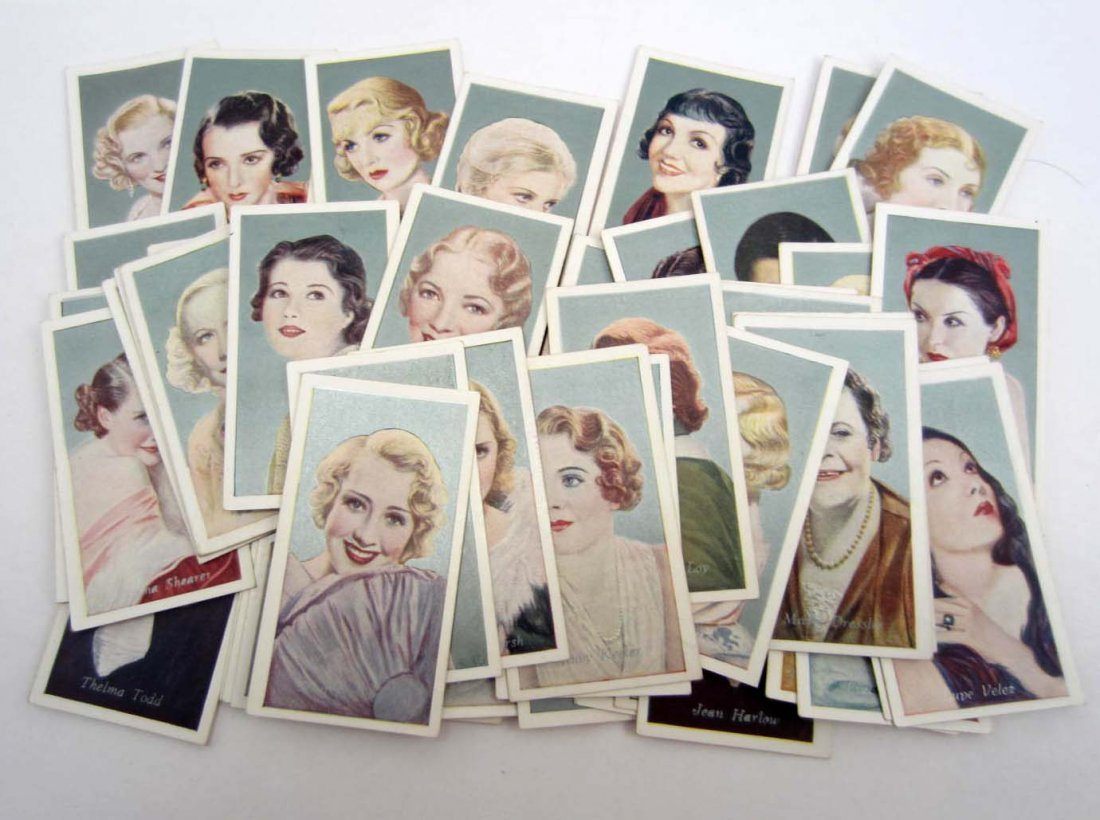 SET OF 50 1934 FILM FAVOURITES TOBACCO CARDS
