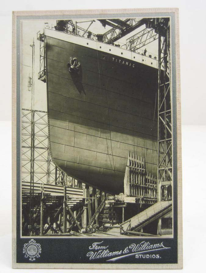 ANTIQUE CABINET CARD PHOTO OF THE RMS TITANIC SHIP