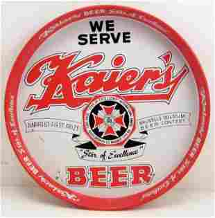 50'S KAIER'S BREWING CO. ADVERTISING BEER TRAY