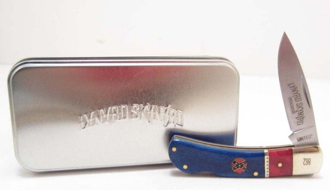 LYNYRD SKYNYRD REBEL LOCKBACK POCKET KNIFE W/
