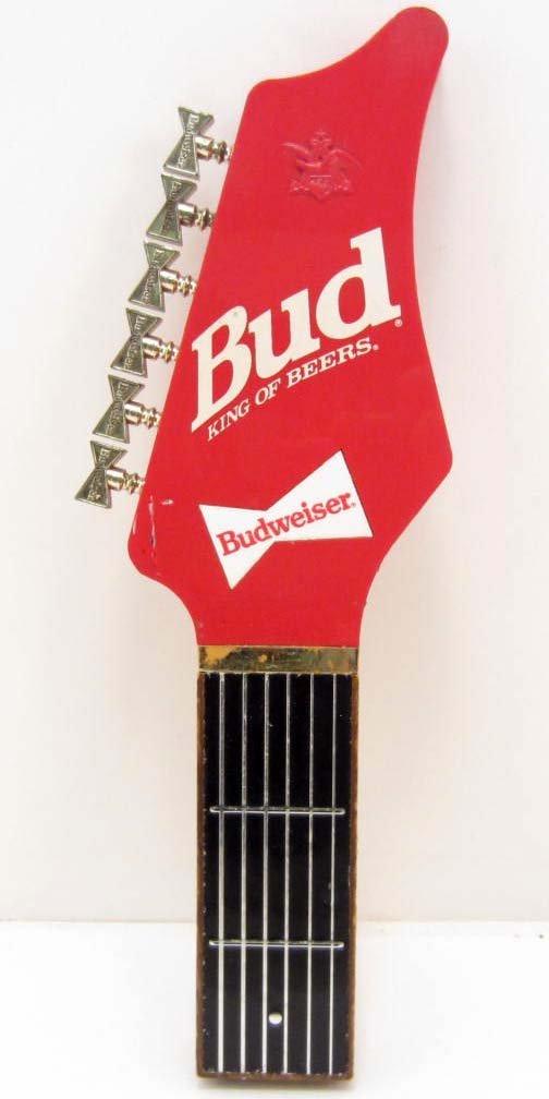 VINTAGE BUDWEISER GUITAR BREWERY ADVERTISING BEER TAP
