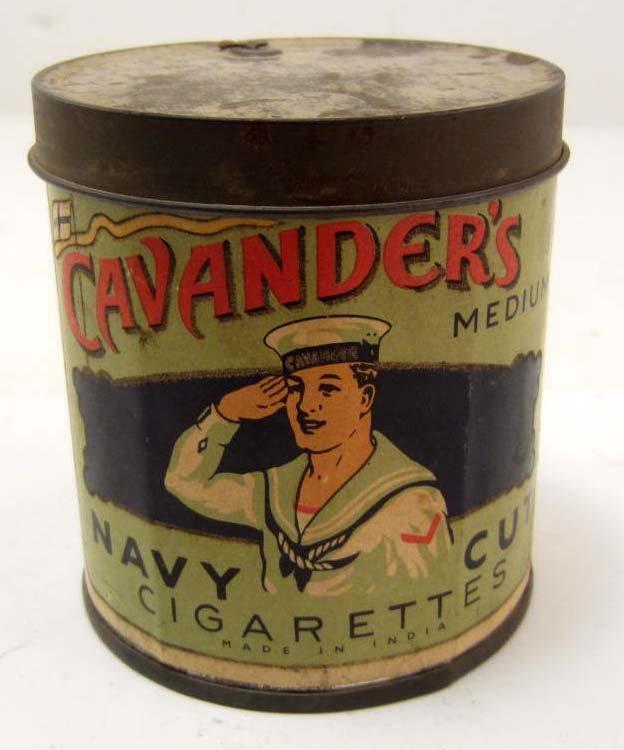 VINTAGE CAVANDER'S NAVY CUT CIGARETTES TOBACCO