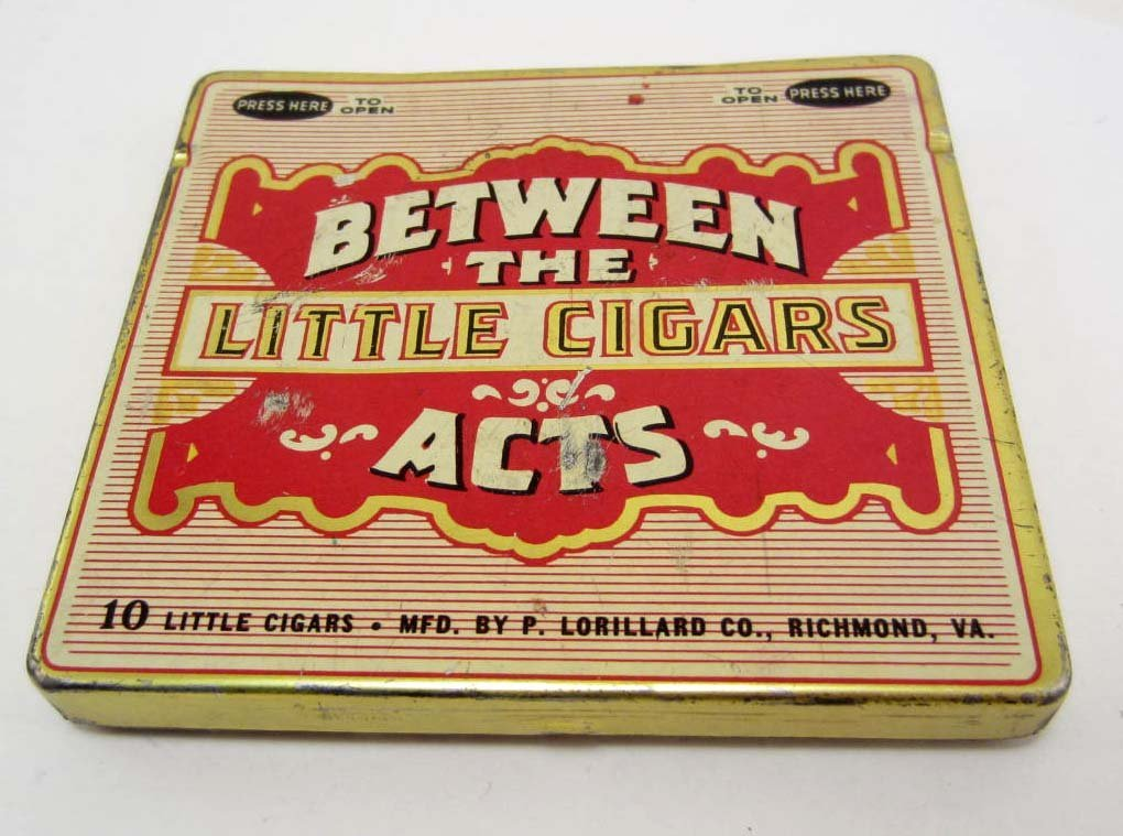 VINTAGE BETWEEN THE ACTS LITTLE CIGAR TOBACCO
