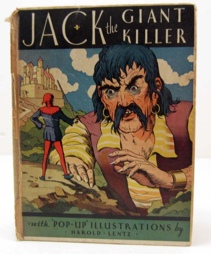 "1932 ""JACK THE GIANT KILLER"" POP UP HARDCOVER BOOK"