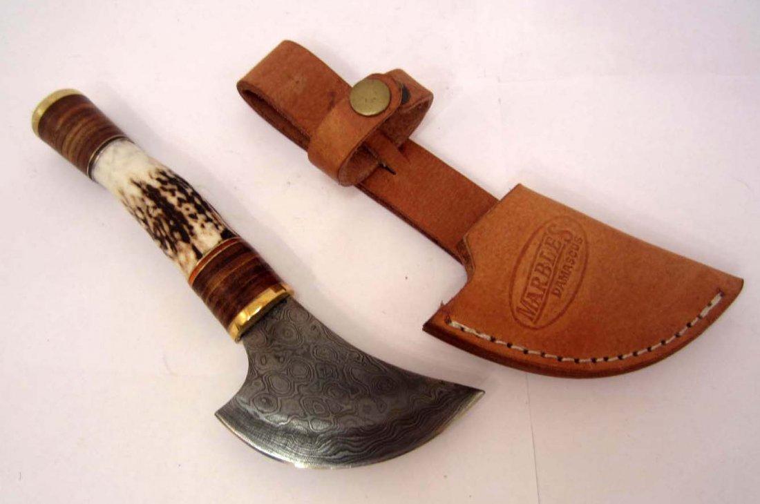 MARBLES DAMASCUS TUNDRA ULU KNIFE W/ SHEATH