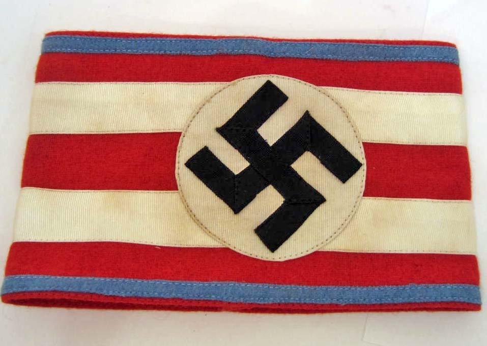GERMAN NAZI POLITICAL NSDAP HIGH LEADER ARM BAND