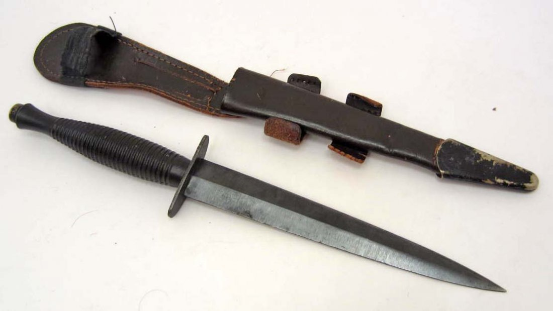 BRITISH OSS FAIRBAIRN SYKER COMMANDO COMBAT KNIFE W/