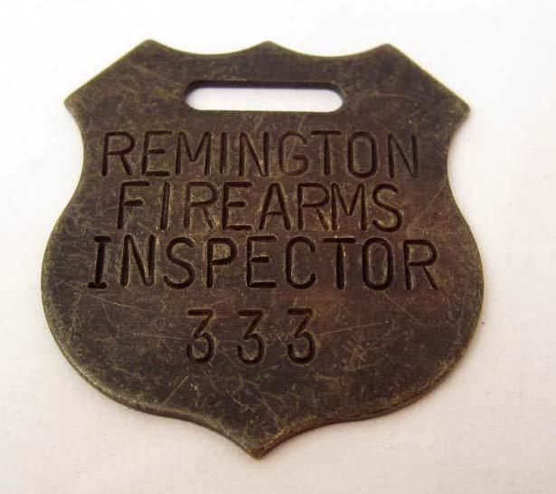 REMINGTON FIREARMS INSPECTOR GUN TAG WATCH FOB