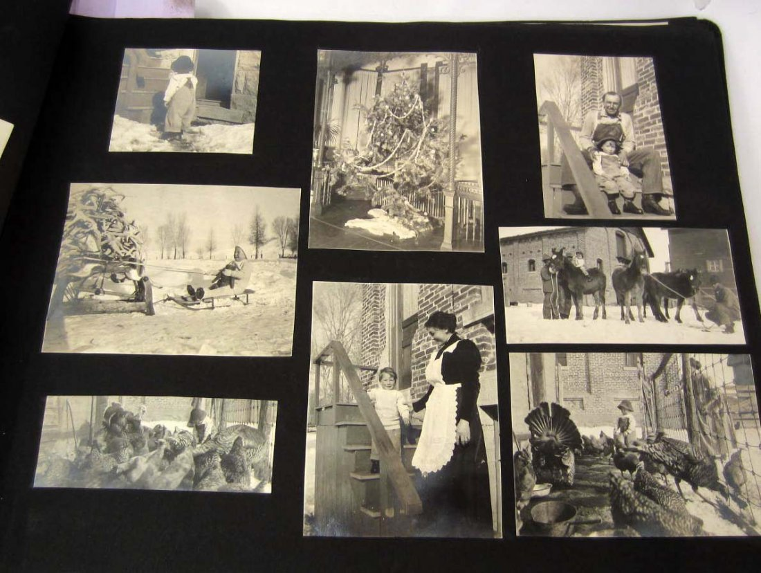 AMAZING VINTAGE PHOTO ALBUM W/ 300+ PHOTOS