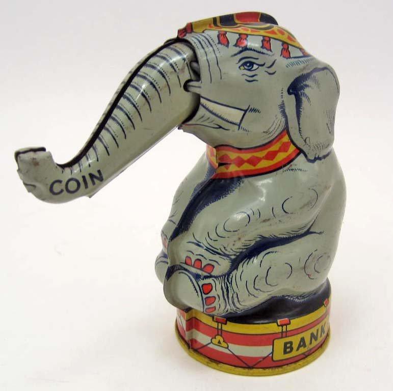C. 1930'S J. CHEIN & CO. TIN LITHO CIRCUS ELEPHANT