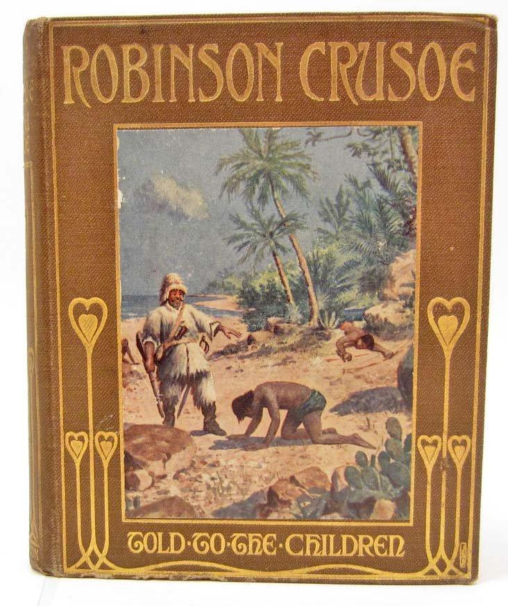 "VINTAGE ""ROBINSON CRUSOE"" HARDCOVER BOOK"