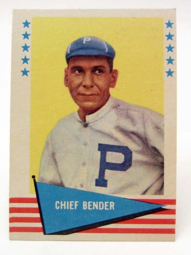 1961 FLEER CHIEF BENDER #8 BASEBALL CARD